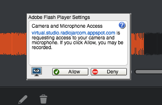virtual studio- adobe flash player settings