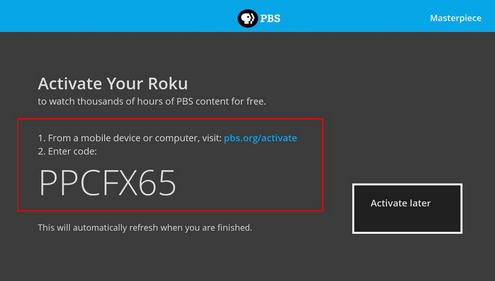 How do I activate Passport on my Roku device? : PBS Help