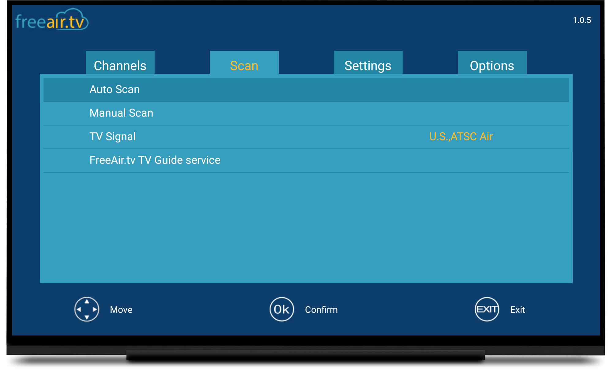 How to configure FreeAir tv TV guide and access Live TV