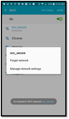 screenshot of options for scc_secure