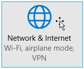 Network and Internet tile screenshot