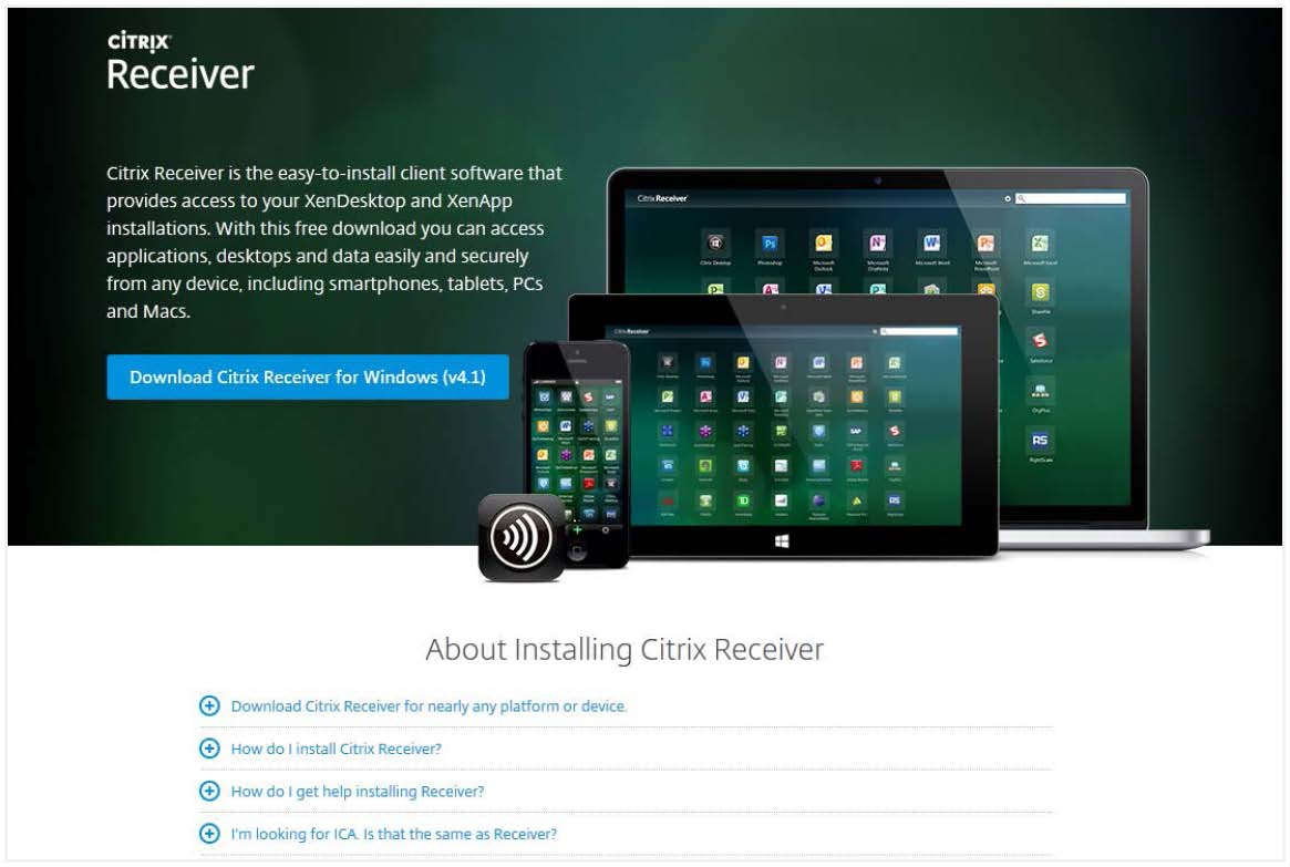 Install and Uninstall Citrix Receiver - Windows : Healthcare Synergy
