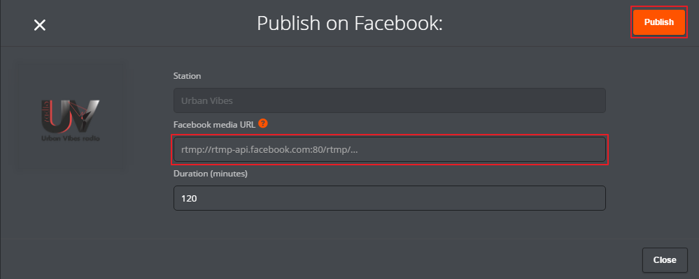 publish on fb