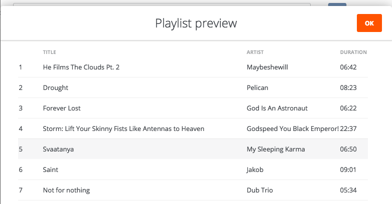 playlist preview