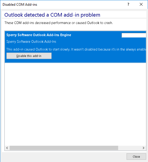 I installed the add-in, but I can't see it in Outlook? : Sperry
