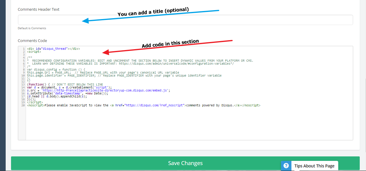 Now you can visit any of your Blog Posts (or any other feature that you  added the code to)  279552110d