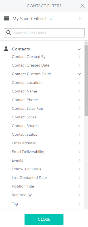 you can apply any number of filtering criteria for contacts contact activity associated companies and associated deals