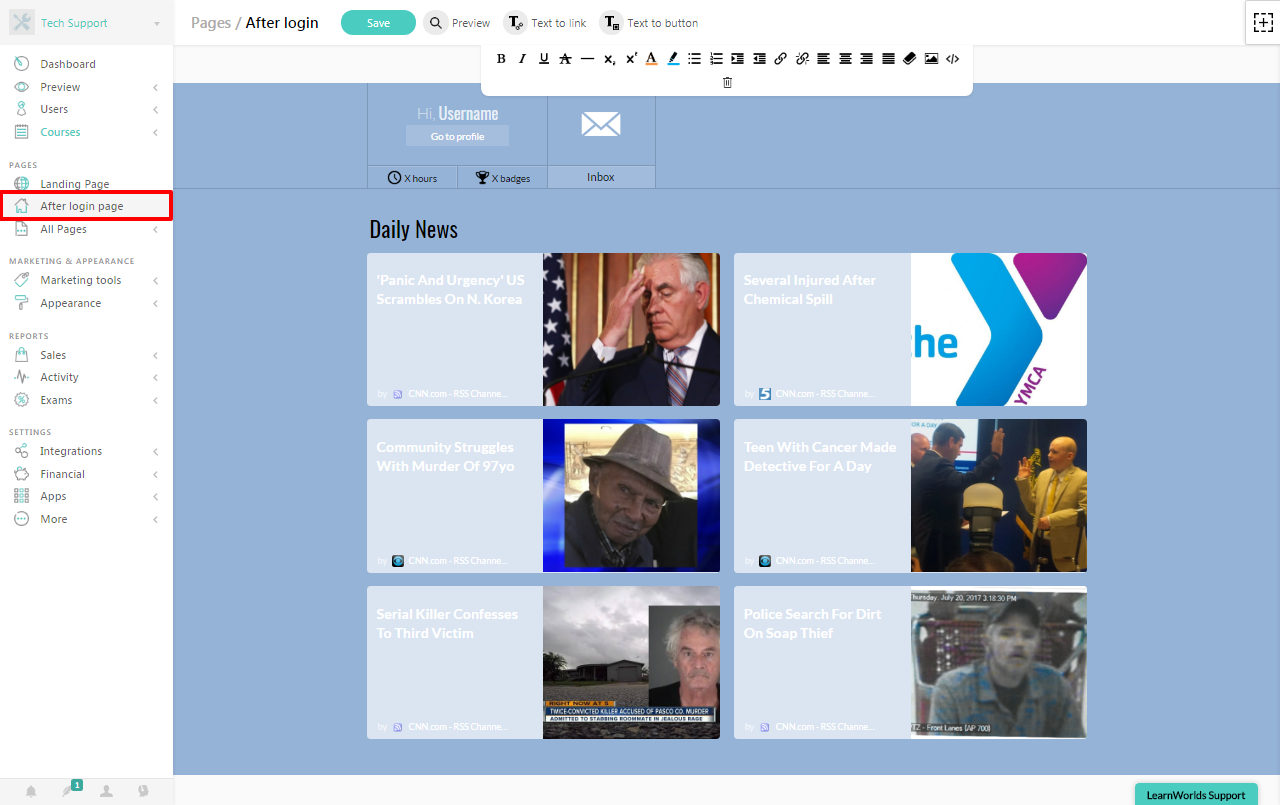 How to add Course Templates : LearnWorlds Help Center