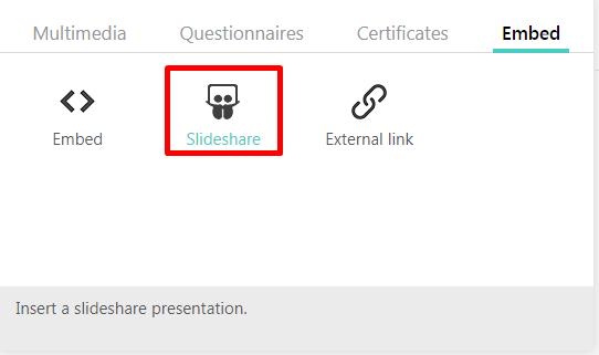 Upload SlideShare Presentation : LearnWorlds Help Center