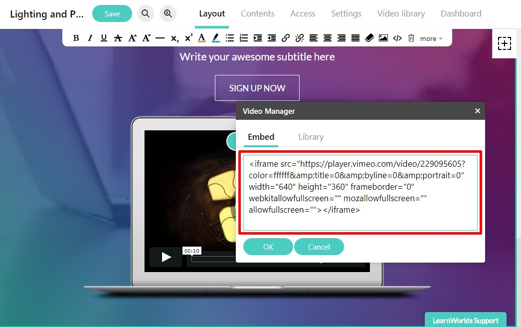 How you can embed your LearnWorld uploaded videos : LearnWorlds Help