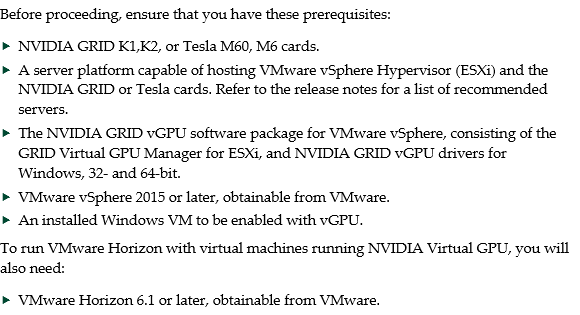 Installing and configuring the NVIDIA VIB on ESXi : Accops Support