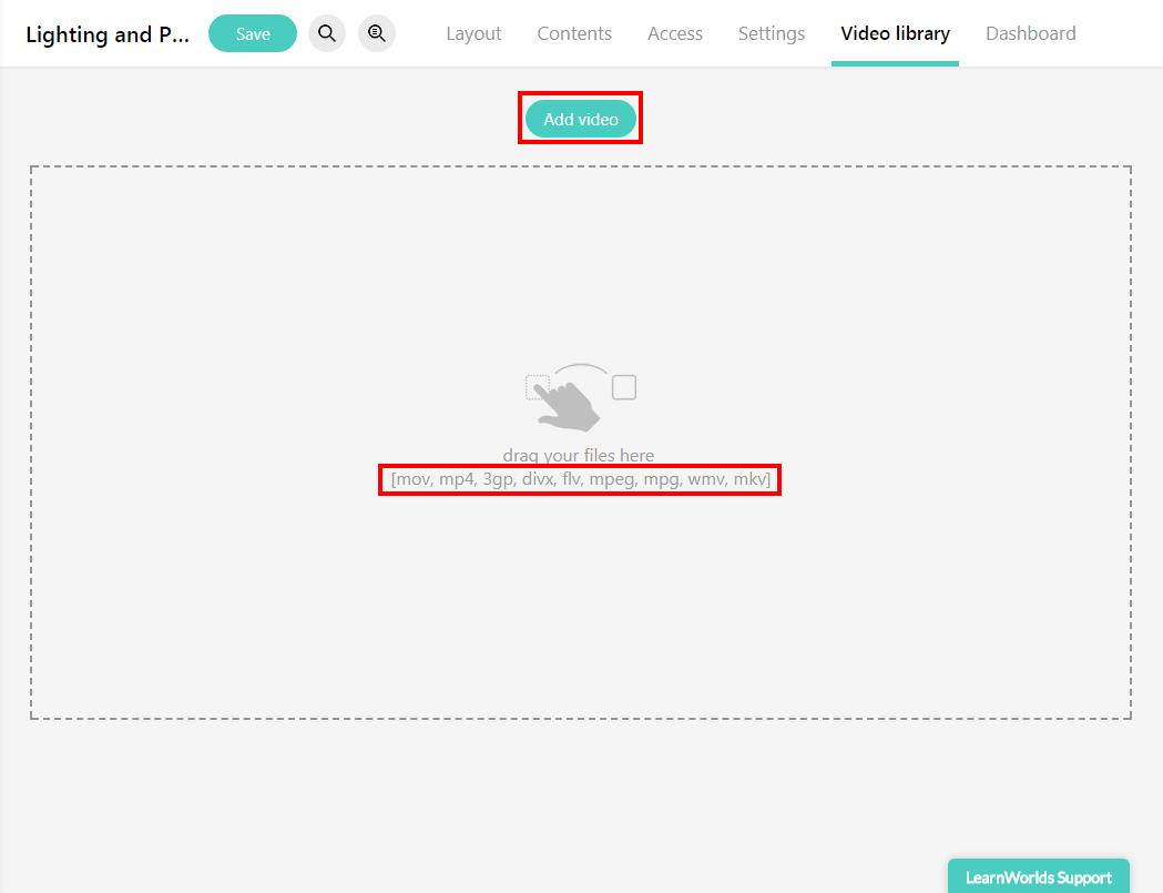 Uploading Videos to your LearnWorlds online school