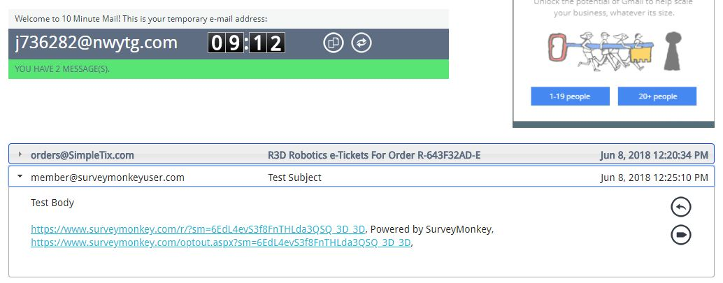 SimpleTix Integration with SurveyMonkey using Zapier  : SimpleTix