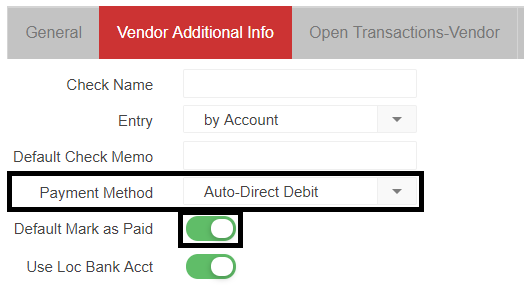 AP Invoice Autopay Support Center - Open invoice payment method