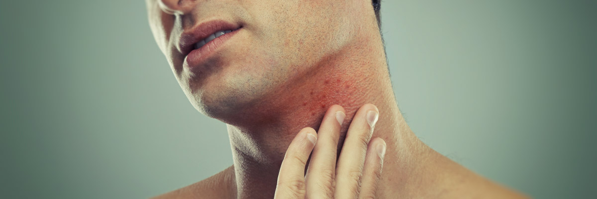 How can I shave when I have spots or a rash?