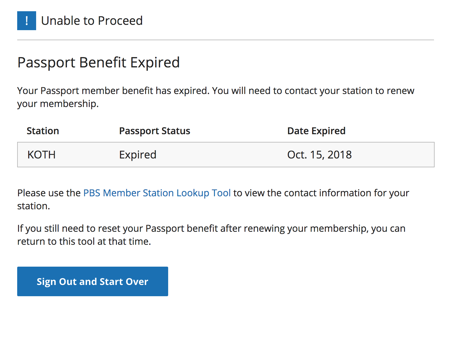 How to Reset Your Access for Your Passport Benefit : PBS
