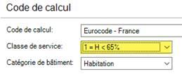 Texte de remplacement généré par une machine: Code de calcul  Code de calcul  Classe de service  Catégorie de bâtiment  Habitation