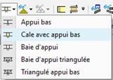 Texte de remplacement généré par une machine: Appui bas  Cale avec appui bas  Baie d'appui  Baie d'appui triangulée  Triangulé appui bas