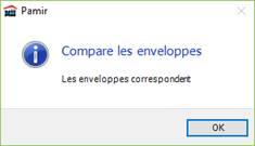 Texte de remplacement généré par une machine: Pamir  Compare les enveloppes  Les enveloppes correspondent