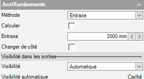 Texte de remplacement généré par une machine: Calculer  Changer de côté  Visibilité dans les sorti  Visibilité  Msibilité automati  Automati que