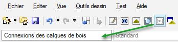 Texte de remplacement généré par une machine: fichier Editer Vue Outils dessin Test Aide  Connexions des calques de bois