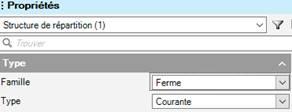 Texte de remplacement généré par une machine: Structure de répartition (I)  Ty pe  zmllle  Type