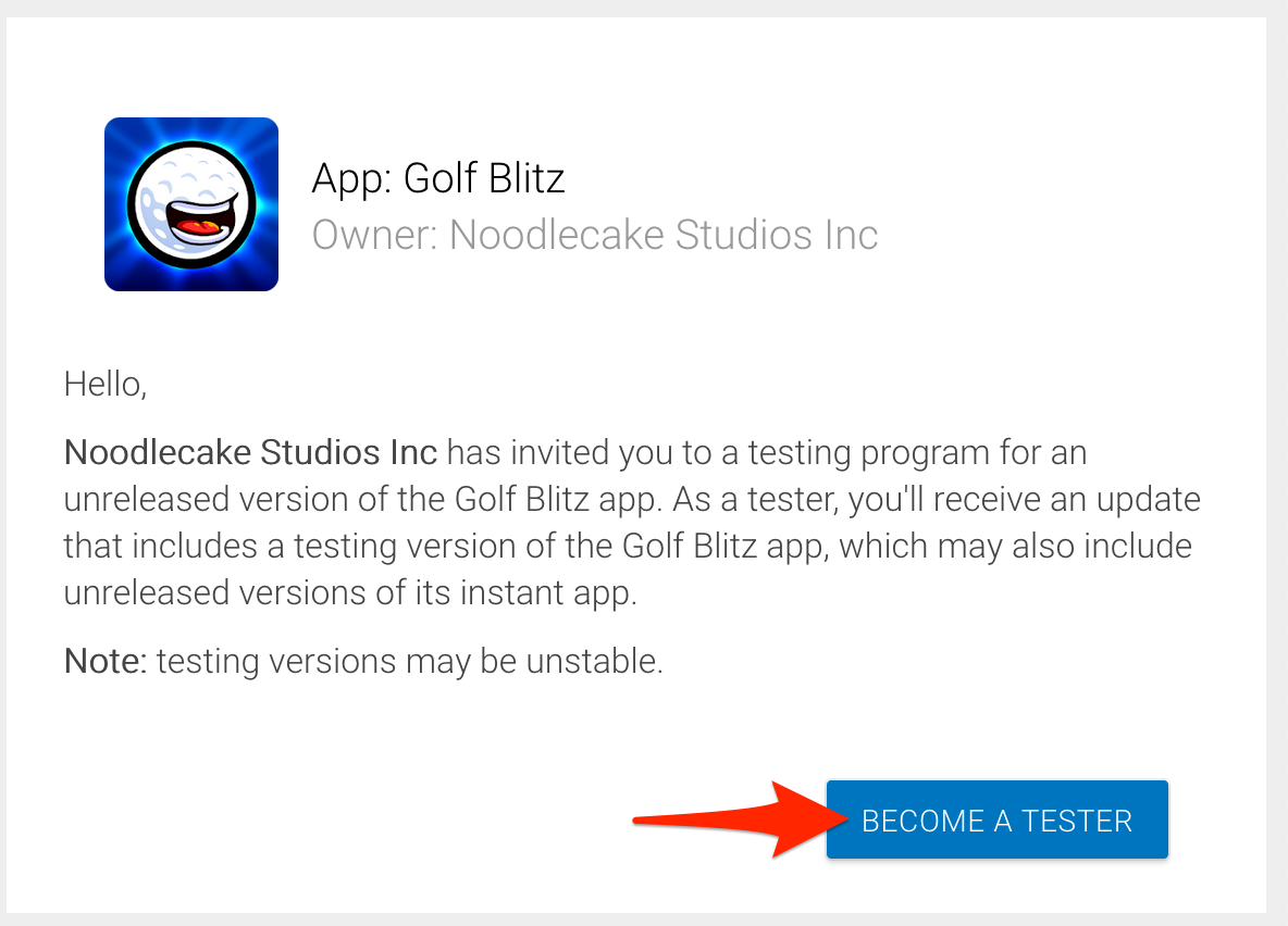 Android - How to join the Golf Blitz beta : Noodlecake Studios
