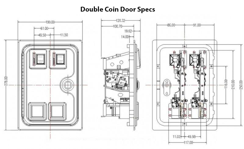 X-Arcade Coin Door Manual & Mounting Diagram : Xgaming