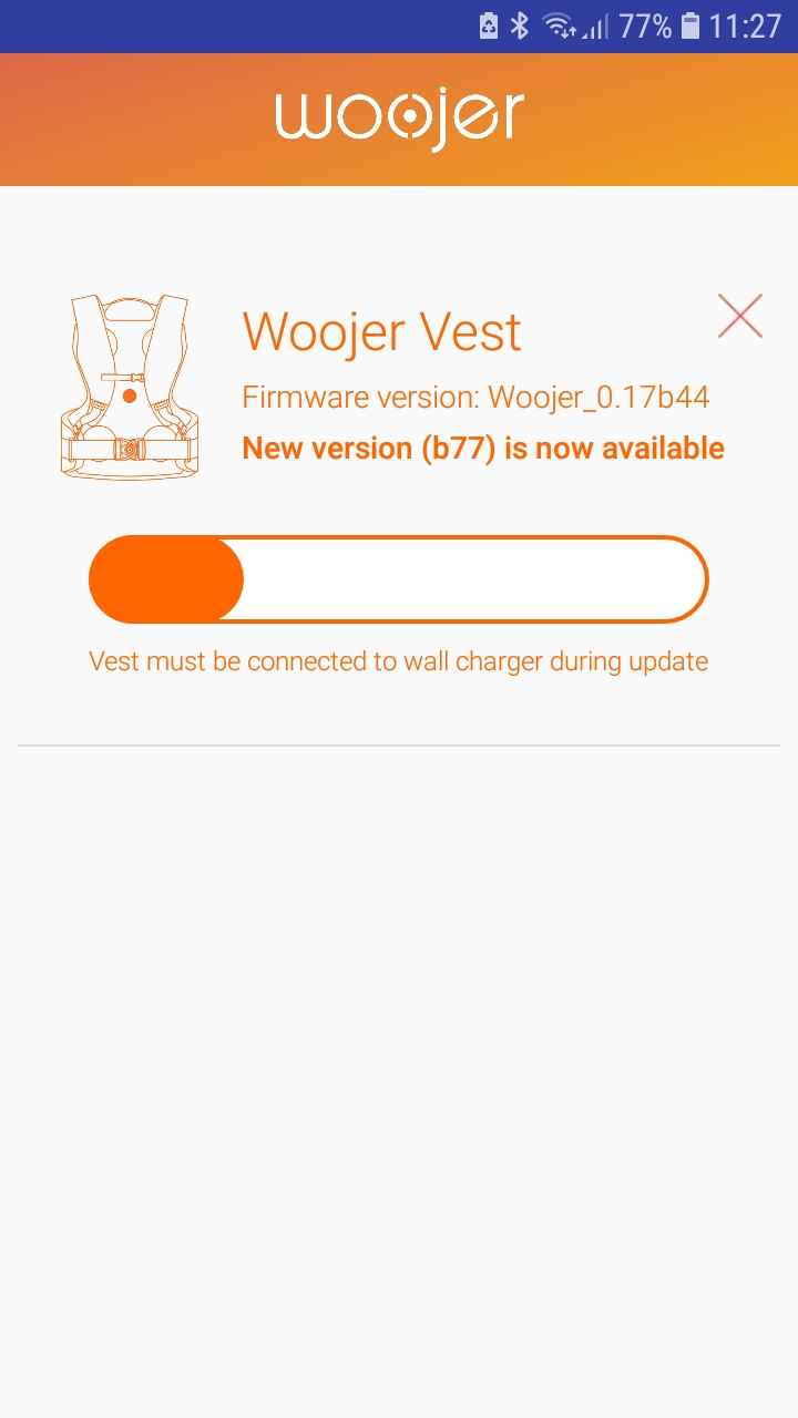 Vest firmware update (Android) : Support Center