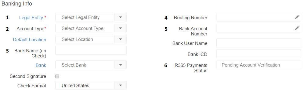 R365 Payments: Adding a New Bank Account : Support Center