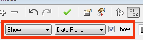 show data picker