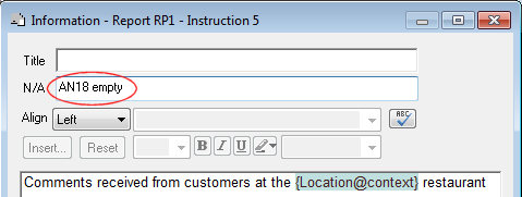 Information instruction showing context