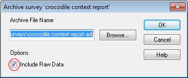 Export survey as snif for snap 9 dialog