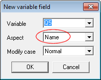 New variable field getting context aspect