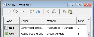 Results dialog base lables tab