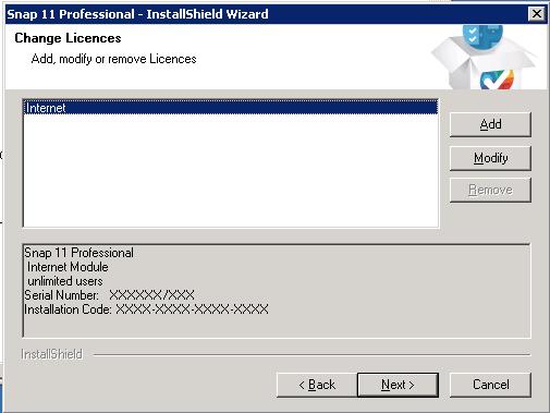 10 network installation: change license