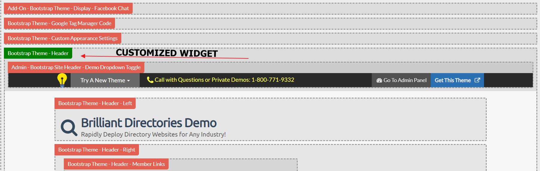Brilliant Directories - Locating the Widgets Via Admin Bar