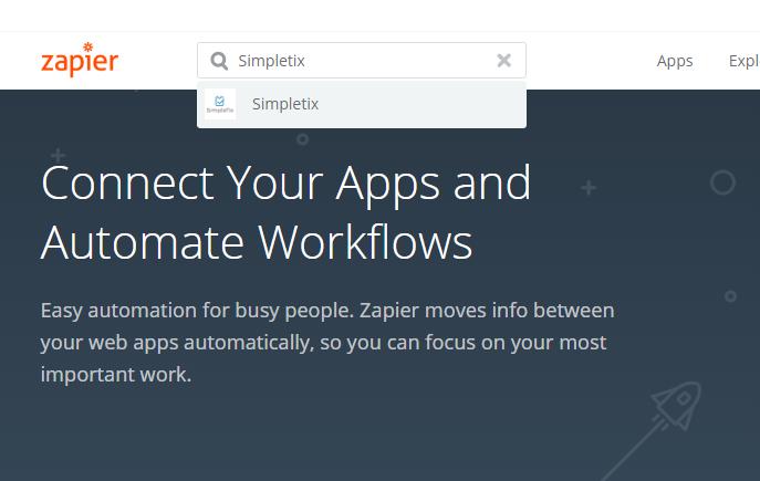 SimpleTix Integration with SurveyMonkey using Zapier