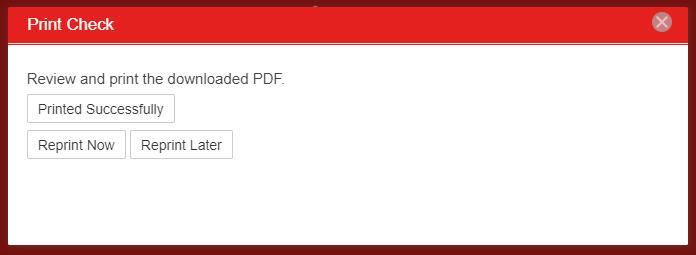 Printing Checks : Support Center