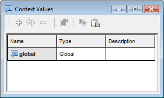 Global context variable dialog