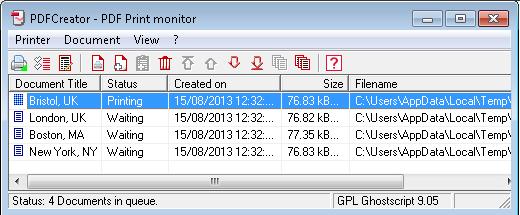 PDF Creator - PDF Print monitor