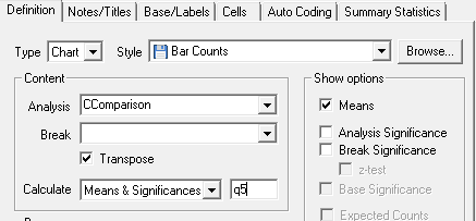 Analysis Definition dialog