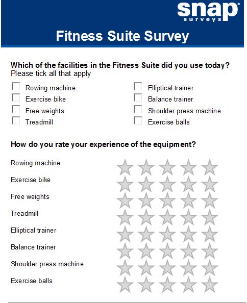 Screenshot of gymn equipment question