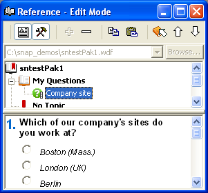RW: New site section in SurveyPak