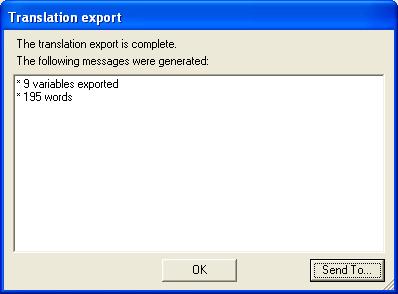 Translation report: export successful