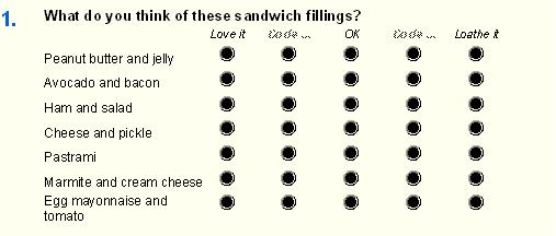 Sandwich question visual one