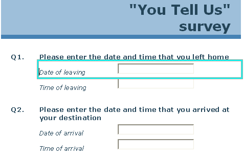 CD: date and time questions