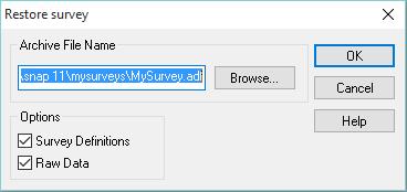 Restore Survey