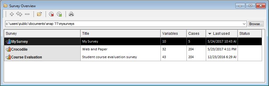 Survey Overview My Survey