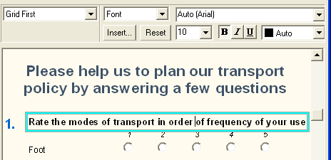 Grid first of transport rating question